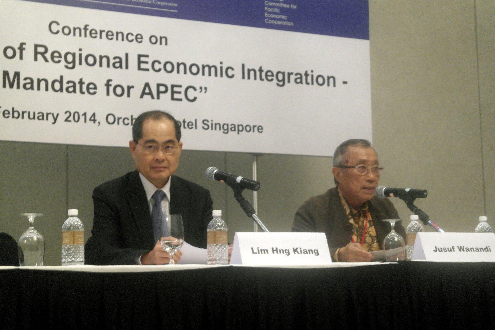 2014 Singapore conference Lim Hng Kiang Jusuf Wanandi